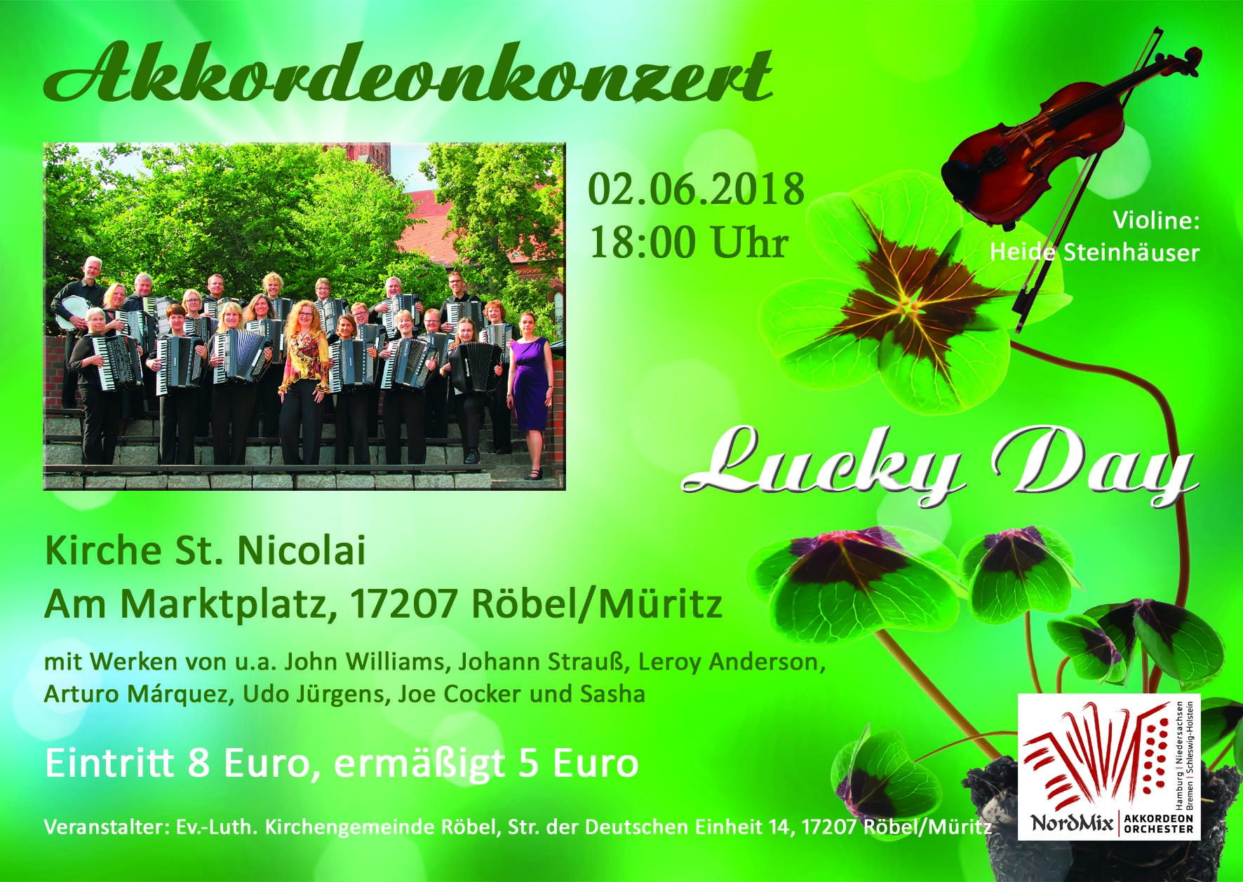 Konzert am 02.06.2018 in Röbel